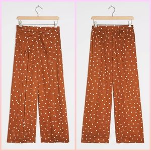 🆕 anthropologie polka dot wide leg pants small